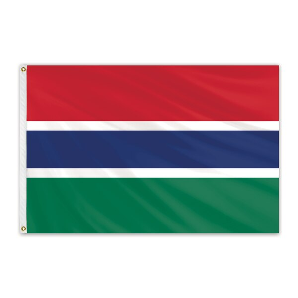 Global Flags Unlimited Gambia Outdoor Nylon Flag 6'x10' 203421